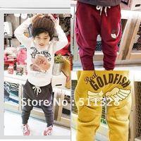 FREE SHIPPING  new boy pants children clothings cotton Children harem pants  3 colors