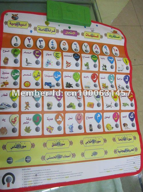 2013 new hot sales muslim Arabic learning Charts of Alphabet 5pcs /lots Wholesale(China (Mainland))