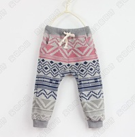 baby boys girls  pants with national flavor kids trousers children  Pants 5 pcs/lot china post