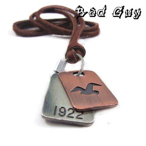 20 off 5pcs pl025 leather necklaces cowhide vintage cowhide necklace Punk Style fashion jewelry 100 genuine