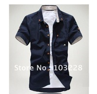 Best selling Short-sleeved shirt/men's short-sleeve shirt/Male clothing --11