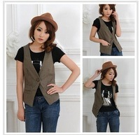 Ms. vest vest leisure the vest Dongkuan solid color code casual women.Free Shipping