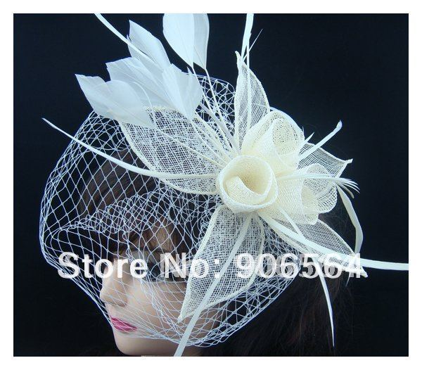 Free shipping sinamay fascinator hats, hight quality bridal veils,multiple color are avaliable,RMSF078(China (Mainland))