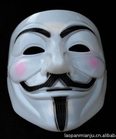 wholesale cheap 30 pcs masks V FOR Vendetta Anonymous Movie Adult Guy Fawkes Costume Halloween Mask masquerade masks v mask new
