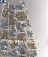 Nets cloth Sequins fabric ,jersey chiffon  polyester chemical knitting cotton , hemp, silk  Sequins fabric