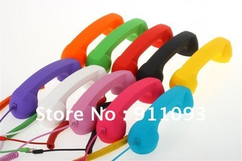 Free shipping 10 Colors Matte Retro Cell Phone Handset with Answer and Volume Controls For iPhone 4 4G 4S And Tablets