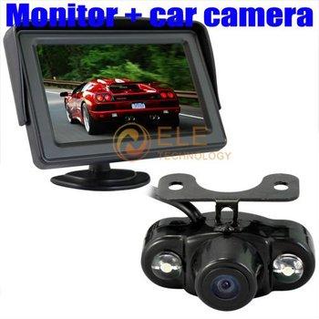 4.3 Inch TFT LCD Car View Monitor Reversing Camera Kit