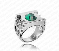 New 18K Gold Plated Green Austrian Crystal Rings Green Lantern SWA elements