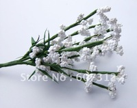 100pcs / lot White foam flower  with wire stem/ handmade flower  Free shipping