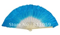 Free shipping 30pcs/lot 10% discount silk fan,dance fan for lady royal blue color