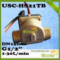 "Sample Free Shipping USC-HS21TB Hall Flow Sensor G1/2"" DN15mm 1-30L/min"