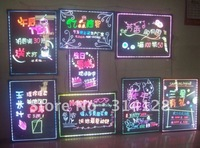Colorful led fluorescent handwriting board(40*60CM) with remote control/highlighter(8X5mm&6X10mm)