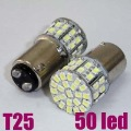 2x White Car LED S25 T25 1157/BA15D 3W 50 Led Dual Indicator Light Bulb Lamp New
