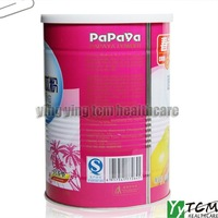 400g/can wholesale instant  papaya powder / healthy drink with lose weitht and enlarge chest function,women beauty