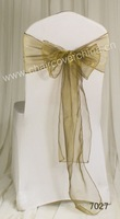 Free Shipping chair bow for wedding party decoration Organza Sash  China factory Wholesale Price