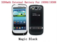 20pcs/lot.Free DHL/EMS.New Arrival for Samsung Galaxy S3 SIII I9300/i9308 External Battery Case with stand 3200mAh Power Bank