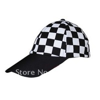 2012 fashion casual black and white plaid baseball cap,sold by pc