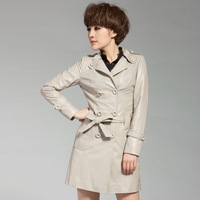 2012 autumn and winter sheepskin genuine leather clothing female medium-long women's trench free shipping