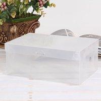 20pcs/lot PP plastic clear children size shoes box organizer 21*13*7.5cm