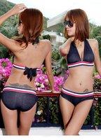 bikini \2012 new /Denim / print dress Siamese / thin / stylish sexy bikini