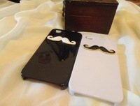 $5 off per $69 order Free Shipping Cheap Price Fashion Alloy Mustache case for iphone 4 4 s  with Present Case Packing
