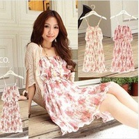 Beige/Cream summer cheap korean women clothes,dress 2013 free shipping
