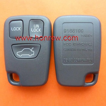 Volvo 3 button remote key blank