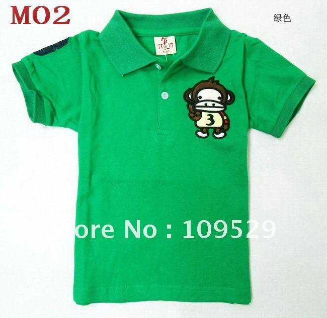 collar T-shirts New design Boy's Girls' short sleeve t-shirt kids T