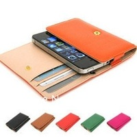 New Wallet Flip Leather Case Cover for iPhone 4G 4S, Free Shipping, A660