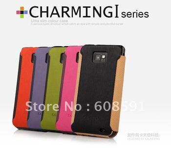 100% Original Brand KALAIDENG Charming I SERIES Leather Case For Samsung Galaxy SII S2 I9100 ,MOQ:1PCS +retail box+Freeshipping