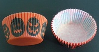 free shipping  wholesales 2012 500pcs Halloween Pumpkin with orange color cakecup baking paper cup muffin cases for party favor