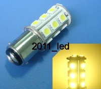 BA15D 1142 SMD bulb Interior light 18-5050 SMD LED,DC 12V,Warm White