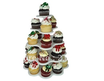 27 Count 5 Tier CUPCAKE DESSERT HOLDER STAND Cake Muffin Wedding Birthday Party