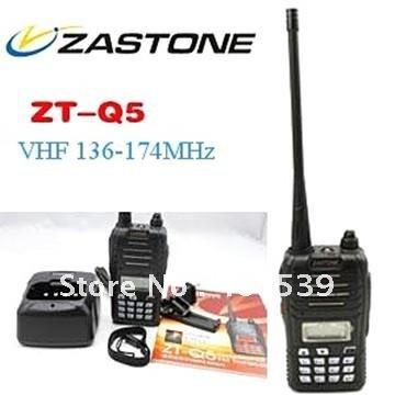 LED display FM keypad transceiver Zastone ZT-Q5 5W VHF or UHF optional 16 channel VHF136-174MHz(China (Mainland))