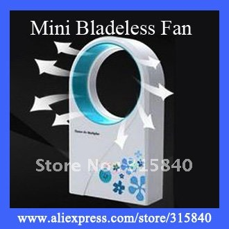 6pcs ABS Mini Bladeless Fan Air Conditoner Hold USB Cooling Fans -- FAF08 Free Shipping