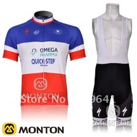free shipping!new Quickstep 2012 short sleeve cycling jersey and bib shorts Kit,bike jersey,short cycling wear suit