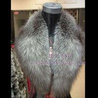 BG5974  Genuine Women's Fox Fur Collar Winter Ladies Casual Scarf Hot Style Wholesale Retail Women Natural Fur Collar