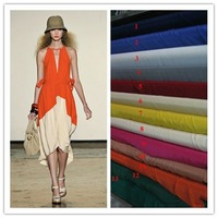 100% Silk Orange  Crepe de Chine Silk Fabric  material for Dress Skirt Blouse C020