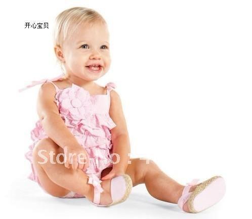 3pcs/lot Pink princess dress little girls good baby clothes children's