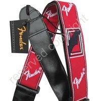 Brand New Red & Black & White Classic Vintage Guitar Strap Adjustable  J012