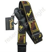 Brand New Black & Brown Classic Vintage Guitar Strap Adjustable J002