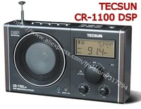 1pcs/lot TECSUN CR1100  DSP PLL AM FM CLOCK RADIO CR-1100 , Digital Demodulation Radio, free shipping