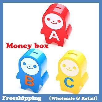 2014 NEW Creative ABC money boxes coin bank 8.5*12.5*4.3CM free shipping