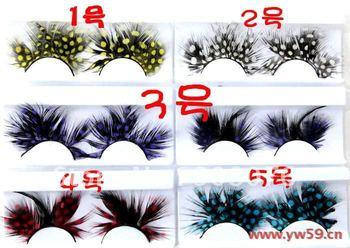 Best selling! ! Thick color models false eyelashes cross-section thick natural  fake eyelash 6pair/lot Free shipping