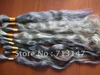 22 inch -33 inch the new grey hair /Indian virgin braids 490g/lot