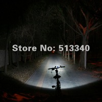 Free shipping 6600MAH 1600lumen Super Power outdoor LED bike light/LED Bicycle light+LED headlamp(RAY IV)