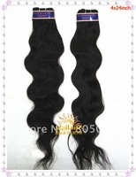 "4pcs/lot Indian virgin hair extensions 100% remy human Body wave 10""-26"" natural color free shipping"