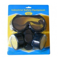 Free  shipping Double Gas Mask Chemical Gas Respirator Face Mask