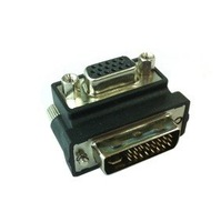 1pcs/Lot free shipping Right Angled 90 Degree VGA SVGA Female To DVI 24+5 male DVI to VGA RGB Adapter