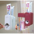 free shipping by CPAM New Automatic toothpaste Dispenser toothbrush holder toothbrush Family set 265g/set red/white to choice(China (Mainland))